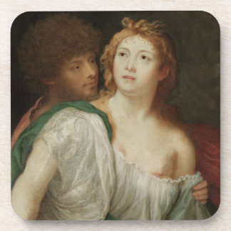 Portrait of Tarquin and Lucretia Beverage Coasters