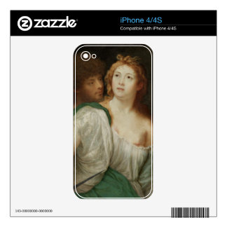 Portrait of Tarquin and Lucretia iPhone 4 Decals
