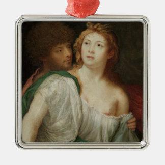 Portrait of Tarquin and Lucretia Christmas Ornament