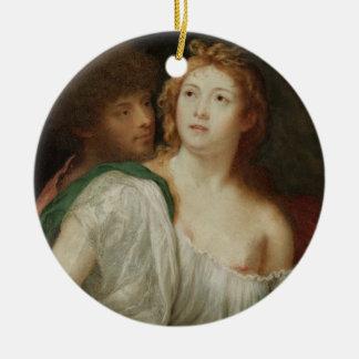 Portrait of Tarquin and Lucretia Christmas Tree Ornament