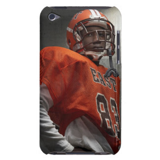Portrait of teenage (14-15) American football iPod Touch Covers
