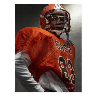 Portrait of teenage (14-15) American football Postcard