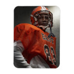 Portrait of teenage (14-15) American football Rectangular Magnets