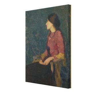 Portrait of Thadee-Caroline Jacquet Canvas Print