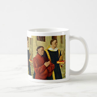 Portrait Of The à ‰ Tienne Chevalier With St. Step Mugs