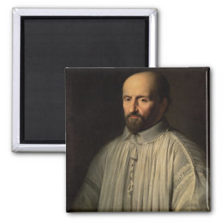 Portrait of the Abbot of Saint Cyran, c.1643 (oil 2 Inch Square Magnet