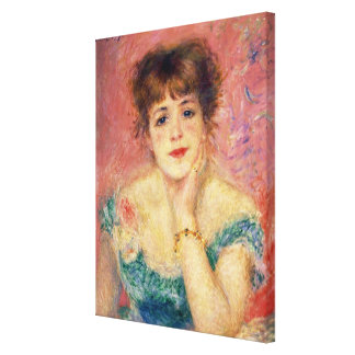Portrait of the actress Jeanne Samary, 1877 Canvas Print