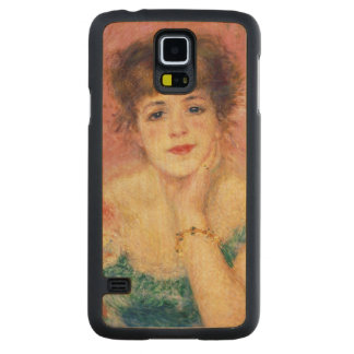 Portrait of the actress Jeanne Samary, 1877 Carved® Maple Galaxy S5 Case