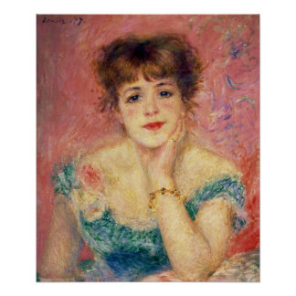 Portrait of the actress Jeanne Samary 1877 Posters