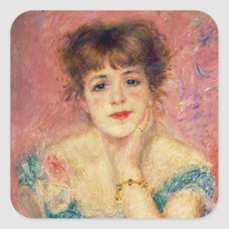 Portrait of the actress Jeanne Samary, 1877 Square Sticker