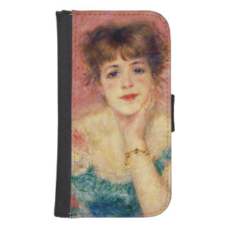 Portrait of the actress Jeanne Samary, 1877 Wallet Phone Case For Samsung Galaxy S4