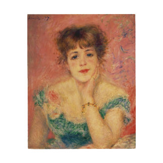 Portrait of the actress Jeanne Samary, 1877 Wood Print