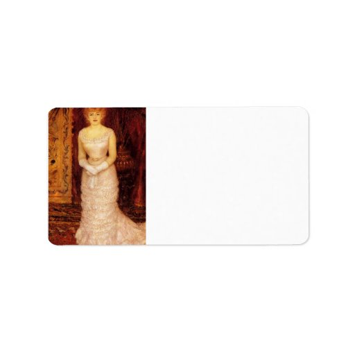 Portrait Of The Actress Jeanne Samary by Renoir Address Label