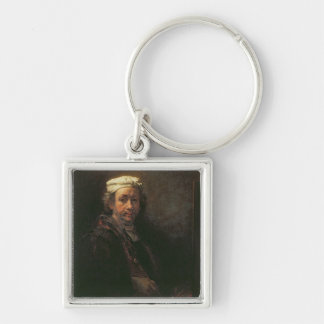 Portrait of the Artist at his Easel, 1660 Keychain