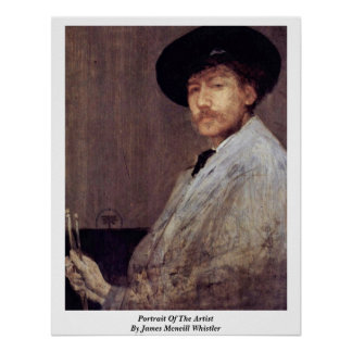 Portrait Of The Artist By James Mcneill Whistler Print