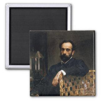 Portrait of the artist Isaak Ilyich Levitan Magnet