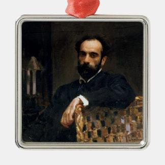 Portrait of the artist Isaak Ilyich Levitan Metal Ornament