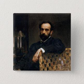 Portrait of the artist Isaak Ilyich Levitan Pinback Button