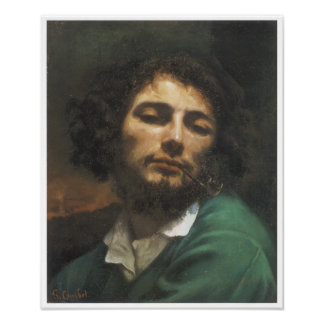 Portrait of the Artist, Man with a Pipe, 1848-49 Poster