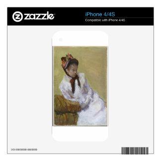 Portrait of the Artist - Mary Cassatt Skin For The iPhone 4