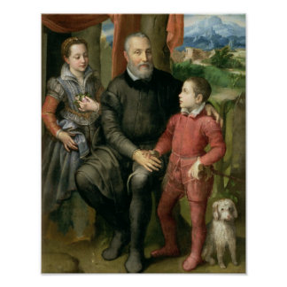 Portrait of the artist s family Minerva Posters
