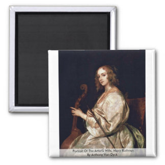 Portrait Of The Artist S Wife Mary Ruthven Fridge Magnets