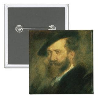 Portrait of the Artist Wilhelm Busch , c.1878 Button