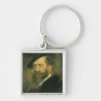 Portrait of the Artist Wilhelm Busch , c.1878 Keychain