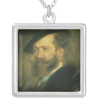 Portrait of the Artist Wilhelm Busch , c.1878 Silver Plated Necklace