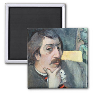 Portrait of the Artist with the Idol, c.1893 Magnet