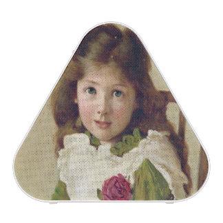 Portrait of the Artist's Daughter (oil on canvas) Bluetooth Speaker