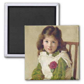 Portrait of the Artist's Daughter (oil on canvas) Magnet