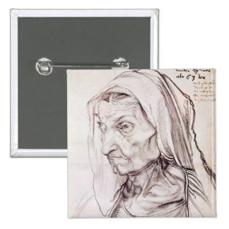 Portrait of the artist's mother, 1514 2 inch square button