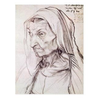 Portrait of the artist's mother, 1514 postcard