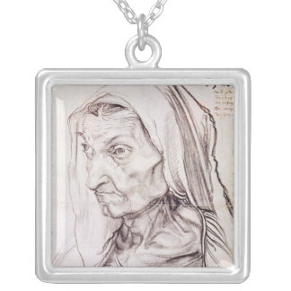 Portrait of the artist's mother, 1514 silver plated necklace