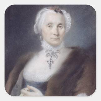 Portrait of the Artist's Mother, Cecilia Guardi, 1 Square Stickers