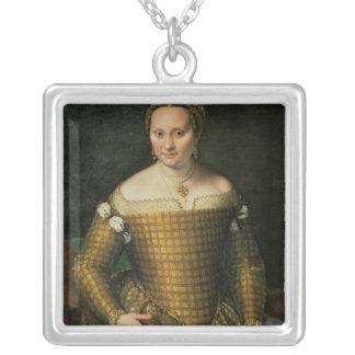 Portrait of the artist's mother square pendant necklace