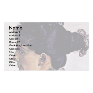 Portrait Of The Artist'S Wife Berthe Jacques Business Card Template