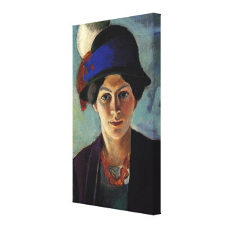 Portrait of the Artist's Wife by August Macke Canvas Print