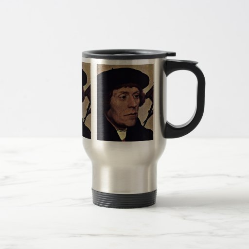 Portrait Of The Astronomer Nikolaus Kratzer Detail Coffee Mug