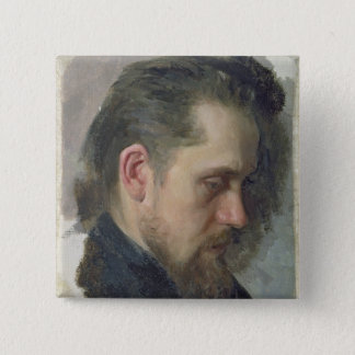 Portrait of the author Nikolay Pomyalovsky, 1860 Button