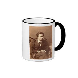 Portrait of the author ringer mug