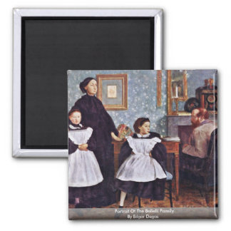 Portrait Of The Bellelli Family By Edgar Degas 2 Inch Square Magnet
