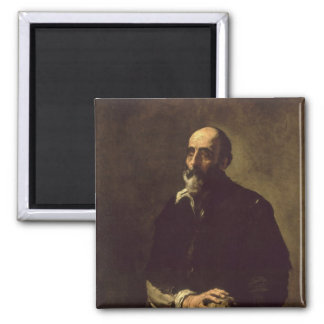 Portrait of the Blind Sculptor, Gambazo  1632 2 Inch Square Magnet