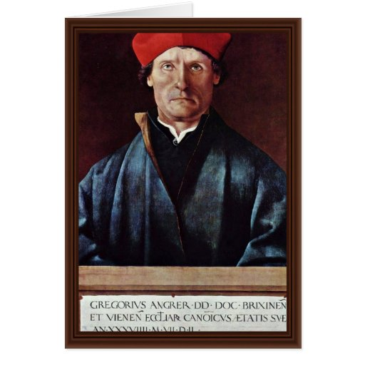 Portrait Of The Brixen Canon Gregory Angren By Mei Greeting Cards