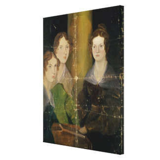 Portrait of the Bronte Sisters, c.1834 Canvas Print