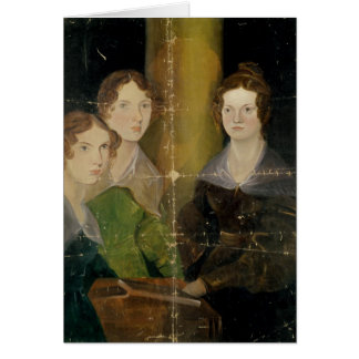 Portrait of the Bronte Sisters, c.1834 Card