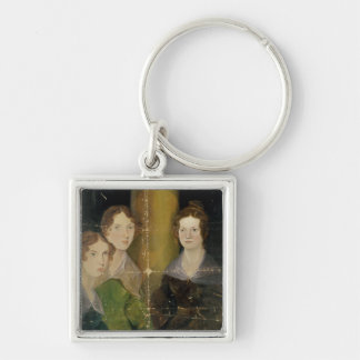 Portrait of the Bronte Sisters, c.1834 Silver-Colored Square Keychain