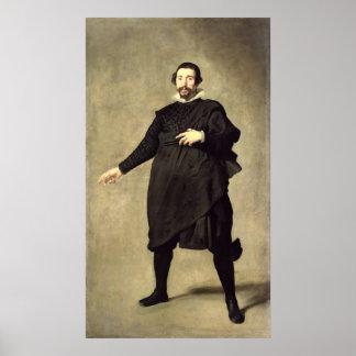 Portrait of the Buffoon Pablo de Valladolid Posters