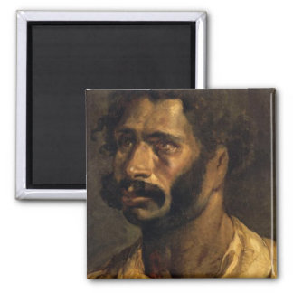 Portrait of the Carpenter of The Medusa 2 Inch Square Magnet